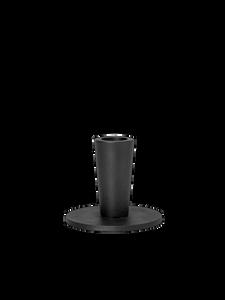 Bilde av Hoy Casted Candle Holder - Low - Black