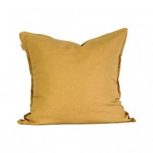 Bilde av Cushion cover linen 50x50 - Mustard